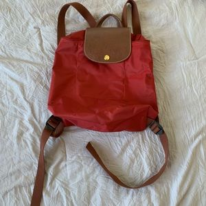 Long champ backpack - red